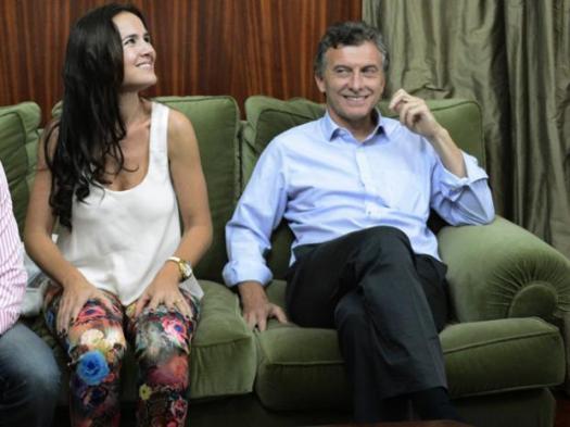 Ana Martínez y Mauricio Macri