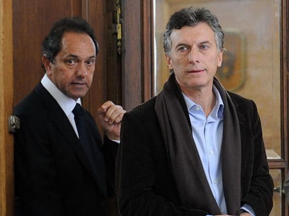 """Scioli, un K """"puro"""", Macri lidera el cambio"""