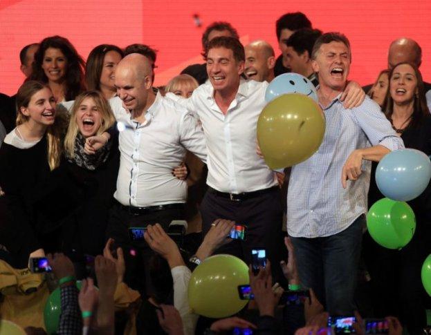 Larreta y Macri en pleno festejo