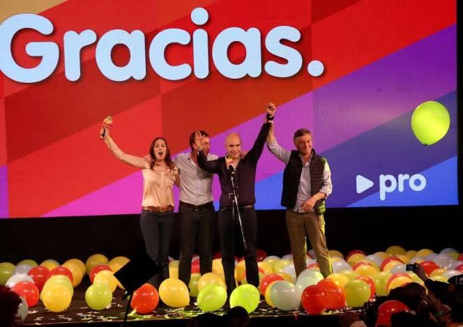 Larreta, con Macri, Vidal y Santilli, ganadores