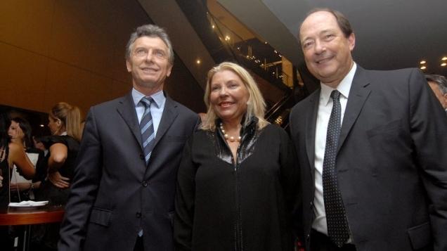 Macri, Carrio, Sanz, el Frente Cambiemos