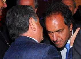 Duhalde aconseja, Scioli escucha