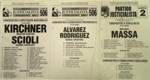 Kirchner, Scioli, Massa. Y Malena de concejal todos por el FpV