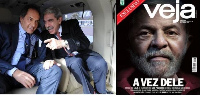 Scioli y Aníbal en la limo. Lula investigado. Eramos tan pobres...
