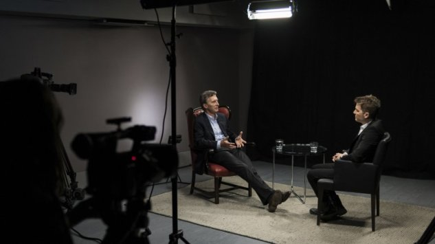 Macri entrevistado por Del Moro para Infobae (Foto Adrían Escandar)
