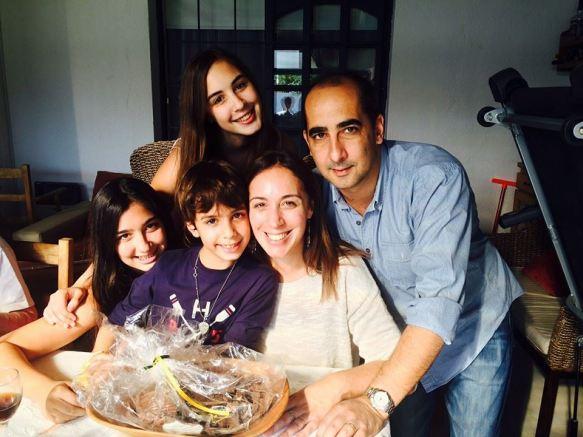 María Eugenia Vidal, una mamá, en familia