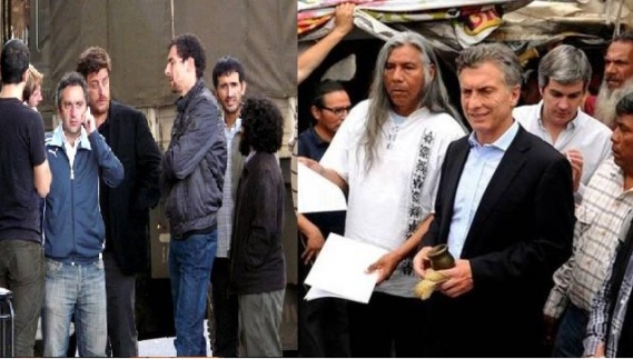 Larroque comanda la golpiza - Macri escucha las demandas
